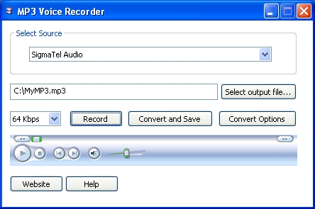 MP3 Voice Recorder - mp3 recorder, wav recorder, aac recorder, wma recorder. - Record your voice or any other sound directly to MP3 format.
